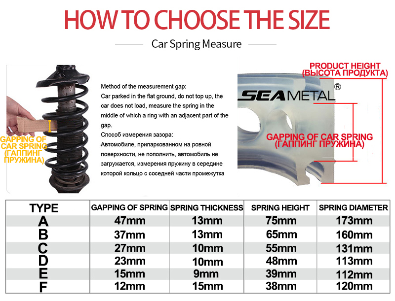 Size-car-shock-absorber-springs-bumper-auto