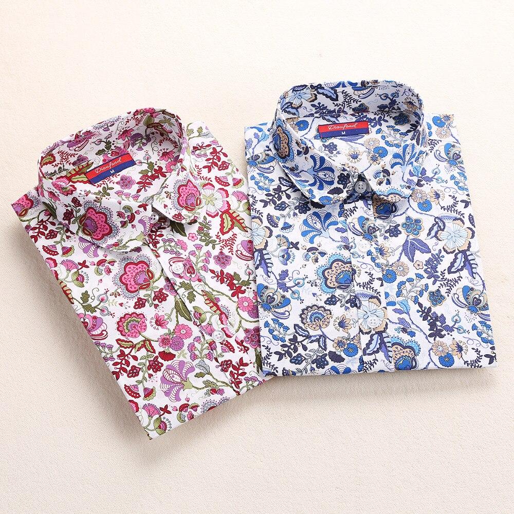 dioufond для женщин вишня блузки для малышек рубашка с длинными рукавами с отложным воротником пух воротник цветочный блузка хомбре туфли-botas для женщин и блузки для малышек модные