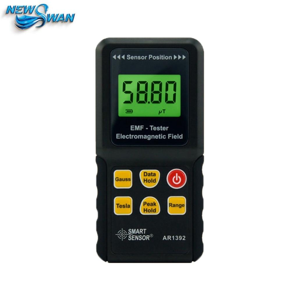 AR1392 Digital LCD Display Electromagnetic Radiation Detector EMF Meter Dosimeter gm3120 electromagnetic radiation detector tester phone pc home equitment radiation monitoring with lcd display