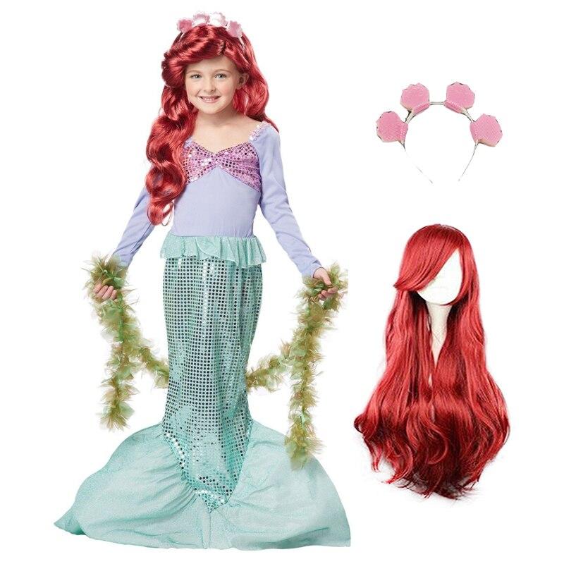 Pearl Diary Little Mermaid Fancy Girls Mermaid Dresses Children Baby  Princess Ariel Cosplay Halloween Christmas Costume 438c40c6dce4