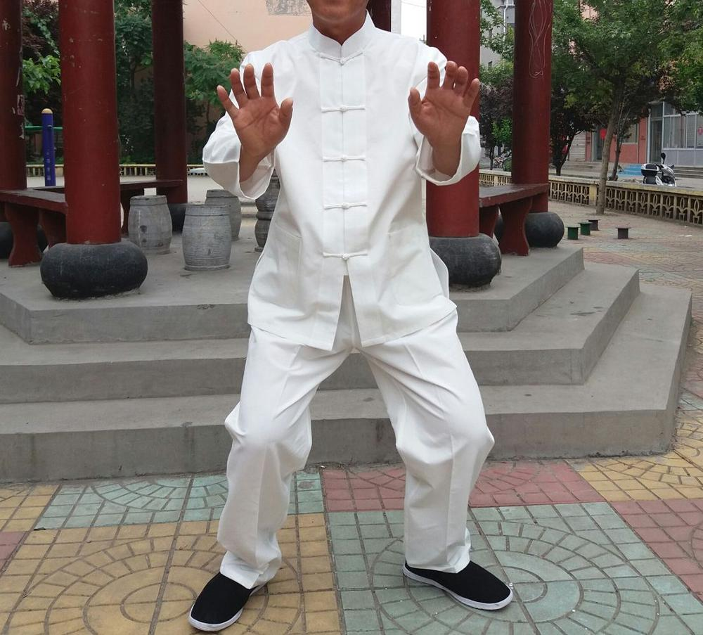 все цены на high quality pure cotton tai chi suits Traditional Chinese men kung fu martial arts clothing sets wing chun tang suit clothes онлайн