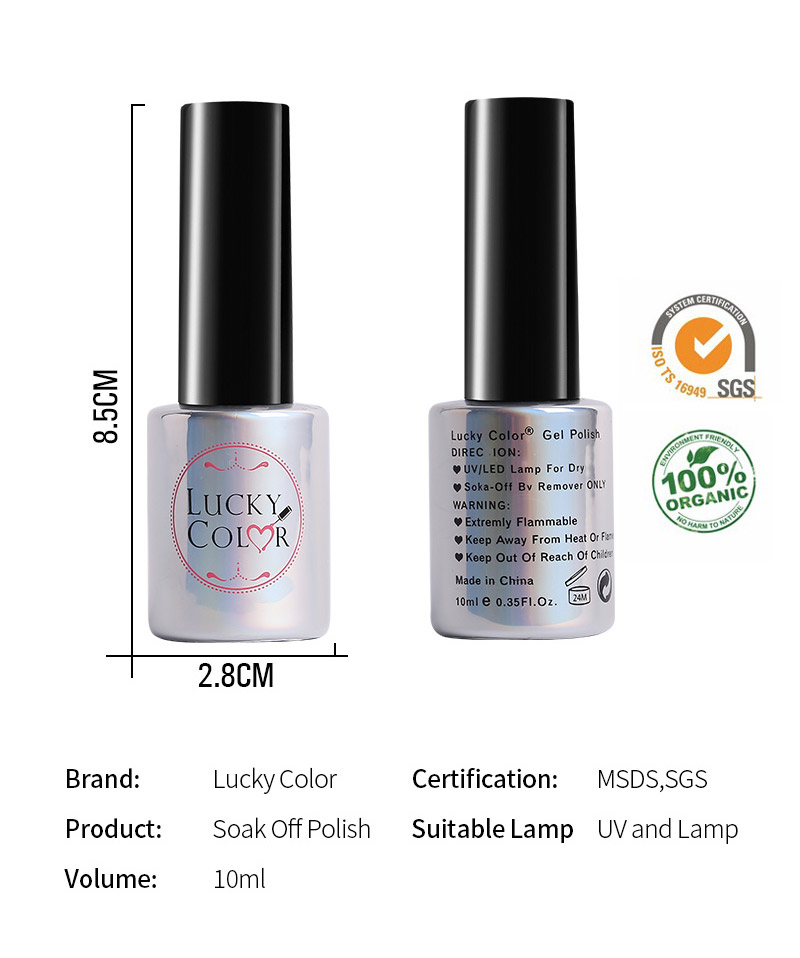 Diamond Red UV Gel Polish For Nail Art Professional LED Soak Off Gel Varnish Lacquer High Quality Free Shipping 10ml Bottle_08
