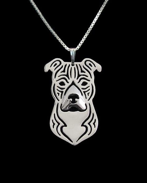 Zlato i srebro 1PCS crtani Boho Chic Alloy Američki Staffordshire - Modni nakit - Foto 2