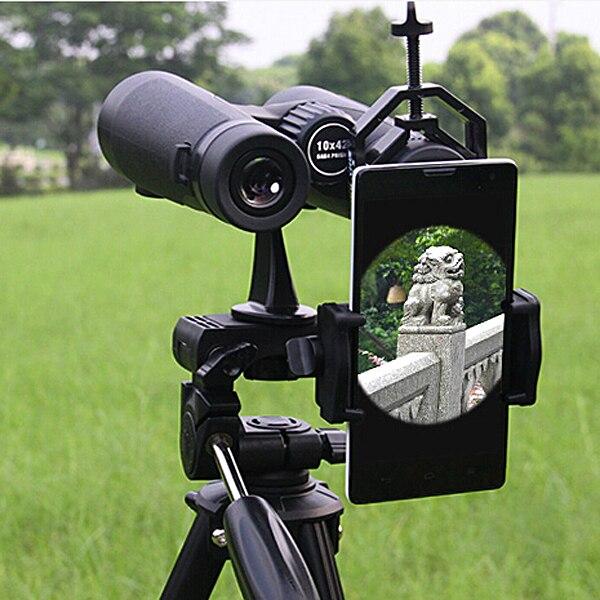 imágenes para Negro Universal Del Teléfono Inteligente Soporte del Adaptador de la Lente Para La Fotografía Astronómica Monocular Telescopio Binocular Montaje VHK60 T1