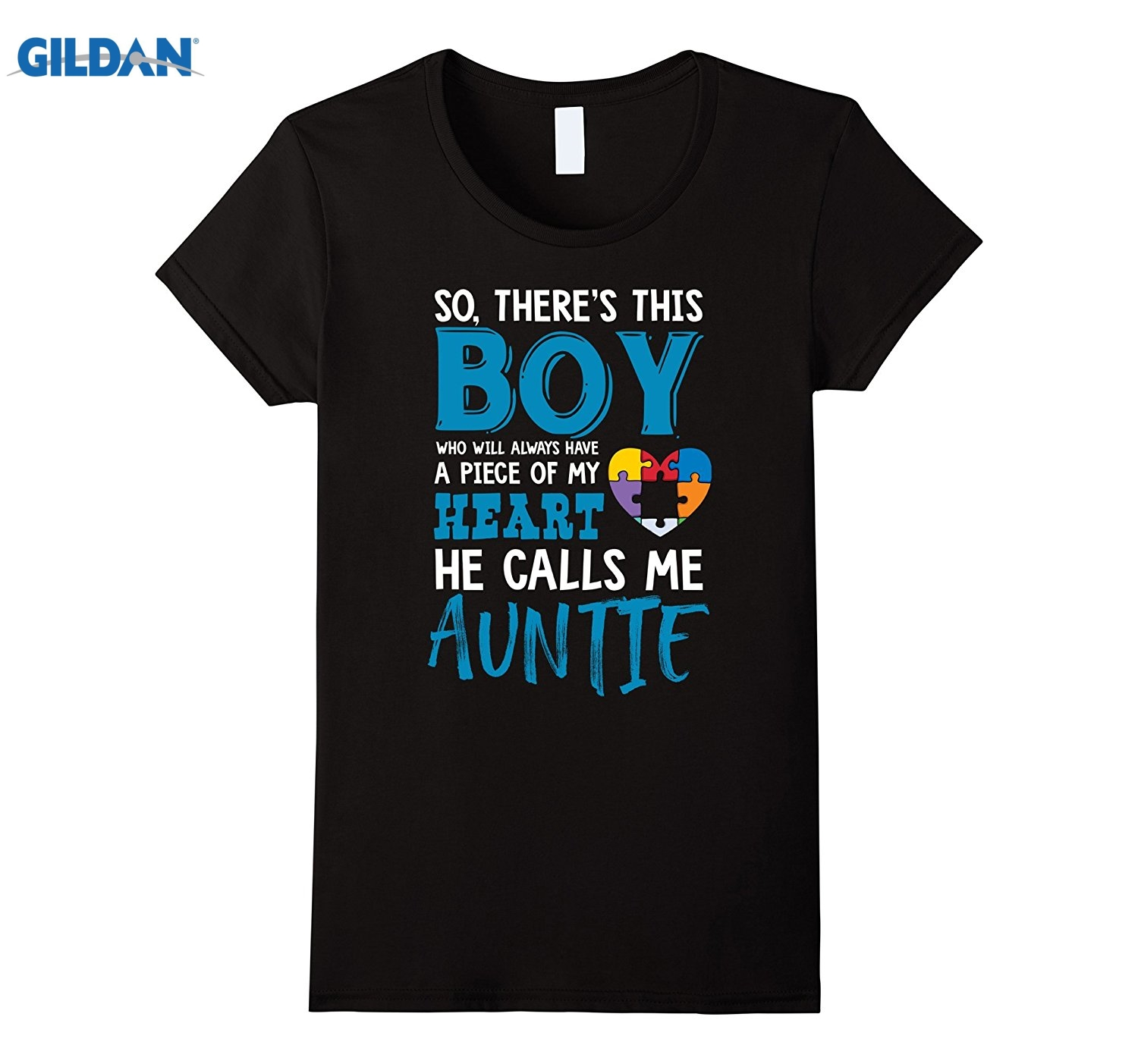 GILDAN Womens Autism Quotes Auntie Tshirt for Autism Awareness Month summer dress T-shirt