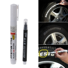 1 Set of White-Color Permanent Tire Marker Pen for Car Tyre And Motocycle