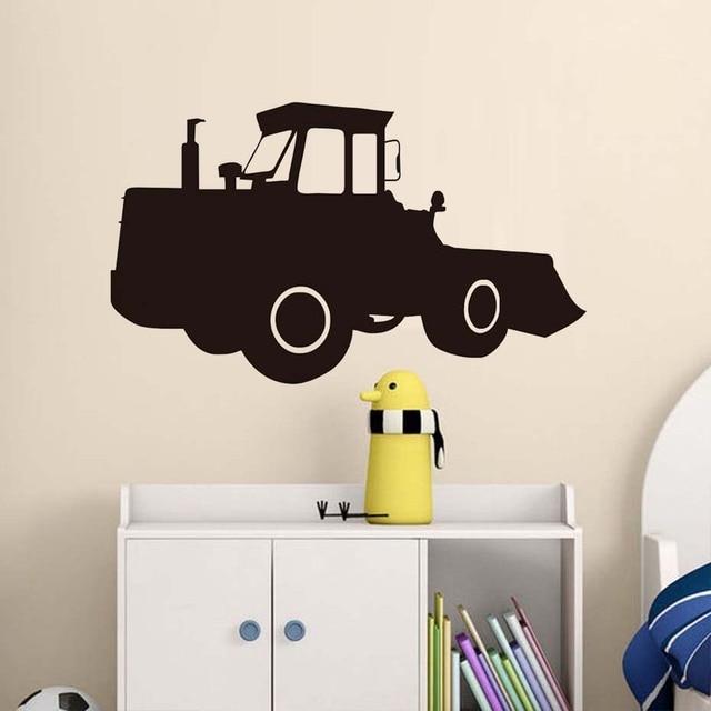 Bulldozer Excavator Tractor Wall Sticker Pvc Waterproof Art Vinyl ...