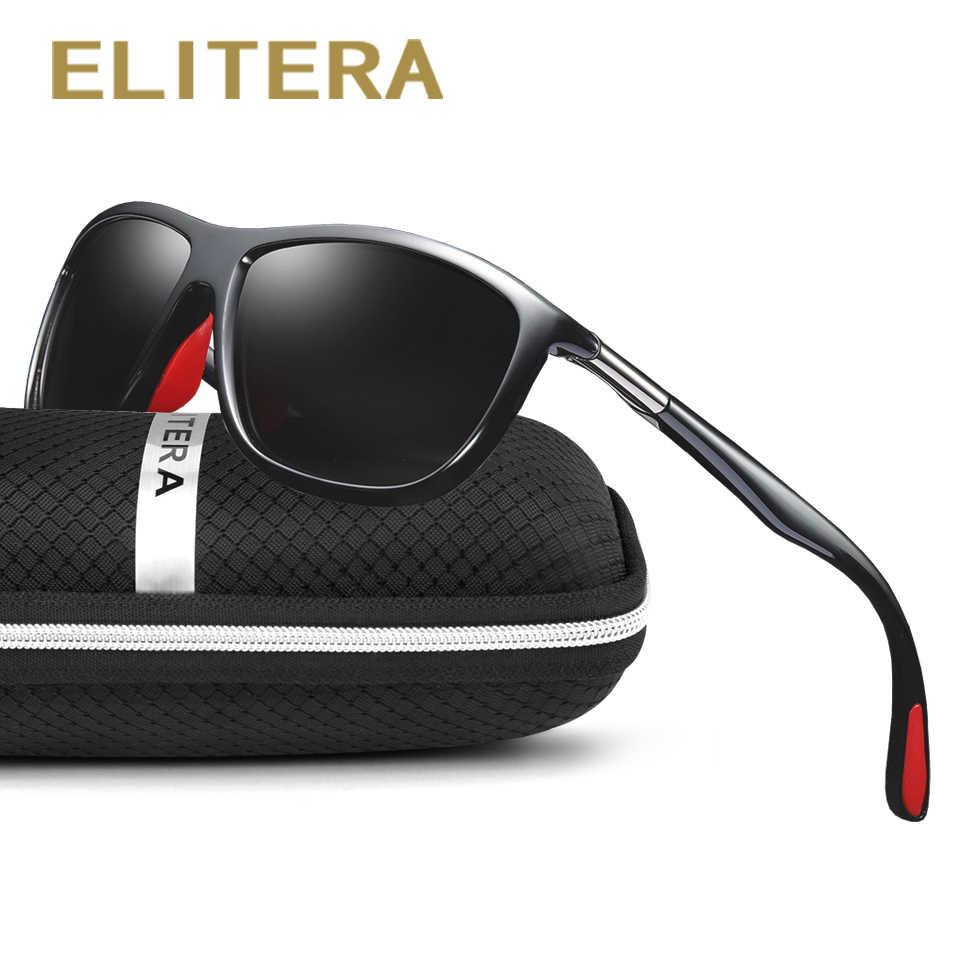 b829f35f4e ELITERA Men Male Polarized Sunglasses Driving Vintage Square Frame Goggles  UV400 100% UV Protection Sun