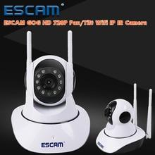 Escam g02 двойная антенна mini камера 720 P наблюдения камеры безопасности pan/tilt wi-fi ip-камера ик ночного видения крытый монитор младенца