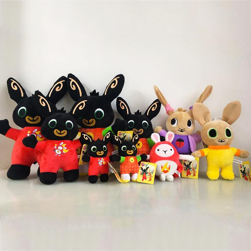 1pcs Bing Bunny Plush Doll Toys Elephant Hoppity Sula Flop Voosh Pando Plush Bing Soft Stuffed Toys Doll Gifts for Children Kids