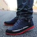 Бесплатная доставка Мужская Обувь весна осень Повседневная Обувь мужская марка матовый кожа мужчины обувь 2016 плоские кроссовки мужские обувь 38-44