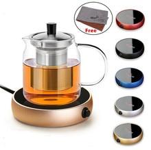 Portable Electric Heating Coasters Water Heater Desktop Coffee Milk Tea Warmer Heater Cup Mug Warming Trays 5 Colors Office Home
