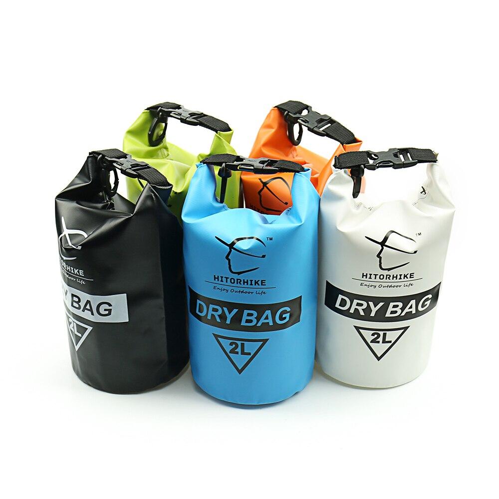 HITORHIKE 2L كيس ماء جاف في الهواء الطلق سباحة التخييم تجمع تخزين حقيبة 6 ألوان