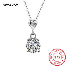 New High Quality 100% S925 Sterling Silver Collarbone Chain Fashion Originality AAA Zircon Necklaces For Women Hot Jewelry Gift