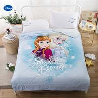 כותנה מצעי שמיכות שמיכות קיץ כחול דיסני Elsa ואנה מכסה ילדי עיצוב חדר השינה של ילד הבנות של 150*200 ס