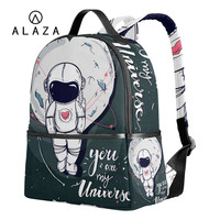 ALAZA You Are My Universe Printing Backpack for Women Travel Bag School Backpack Man With Space Suit Bag Large Capacity 2019