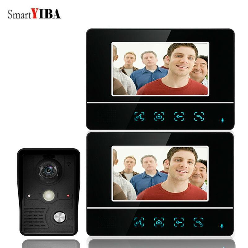 SmartYIBA 7 Inch TFT Touch Screen Video Door Intercom Entry System Door Bell Doorbell With IR Night Vision Camera Monitor