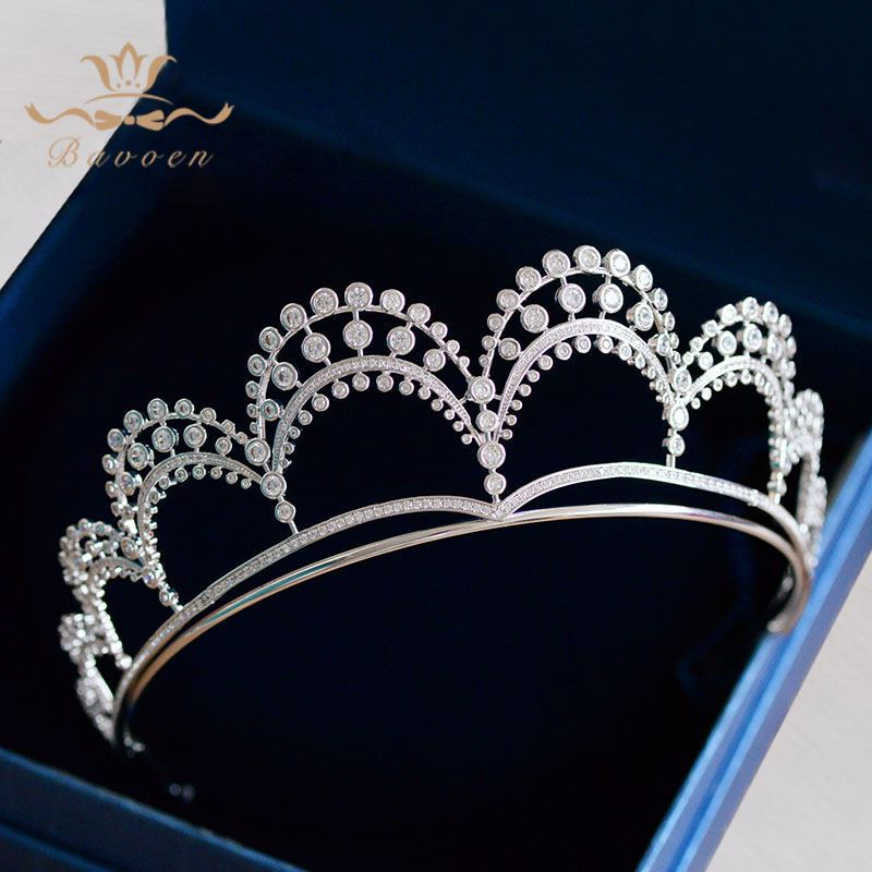 Princess New High-end Fresh Lovely Brides Crystal Crown Headpieces Full Zircon Tiaras Hairbands Wedding Dress Hair Accessories