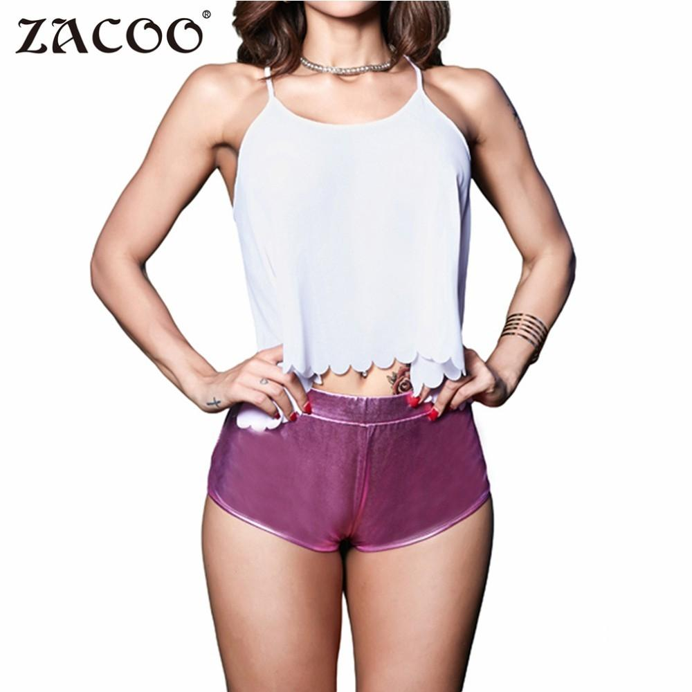 Zacoo Women 2017 Sexy Paint Leather Super Shorts Nightclub Wear Fashion Adult Tight Shorts Hot Solid Pu For Dance Party Z25
