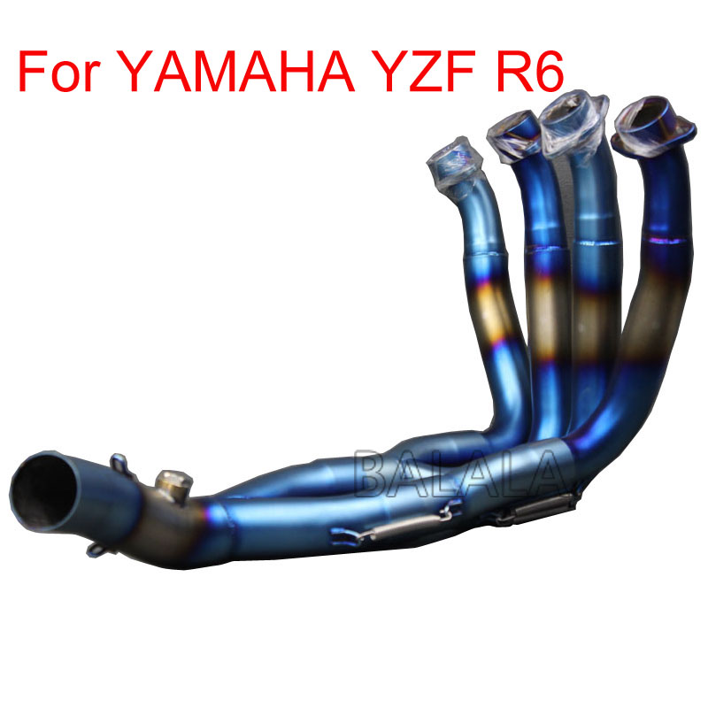 Motorcycle Exhaust Muffler Modified Scooter Front Pipe Muffler Exhaust Tube Slip on Full System For YAMAHA