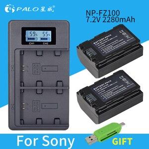 PALO NP-FZ100 NPFZ100 NP FZ100 Battery+LCD Dual USB Charger for Sony NP-FZ100, BC-QZ1, Sony a9, a7R III, a7 III, ILCE-9,A6600