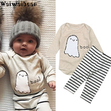 Waiwaibear Hot Sale Baby Sets Newborn Boys Clothes Infant Rompers Tops+Striped Pants Leggings 2pcs Outfits Set