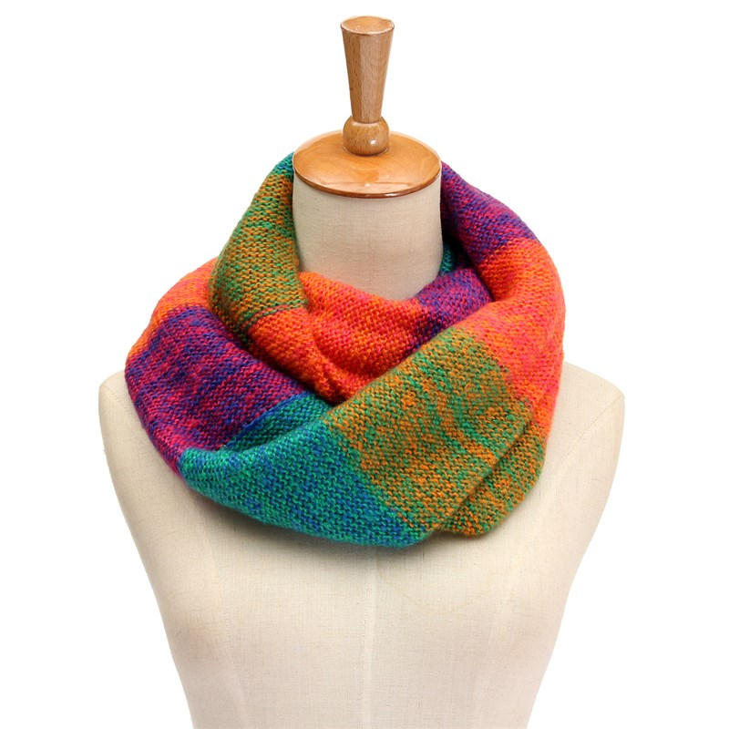 Multicolored Ring Scarf | Infinity Scarves | Up to 60% Off Now