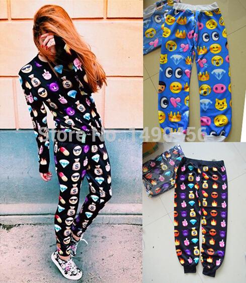 Las más de Moda Emoji Joggers pantalones de Chándal Para Hombre Gimnasio Pantalones Hombres Pantalones de Chándal marca de ropa para hombres