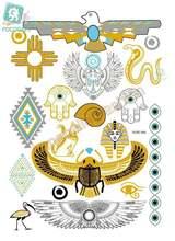 Rocooart hubs046 золотые татуаги татуаж боди арт временные тату