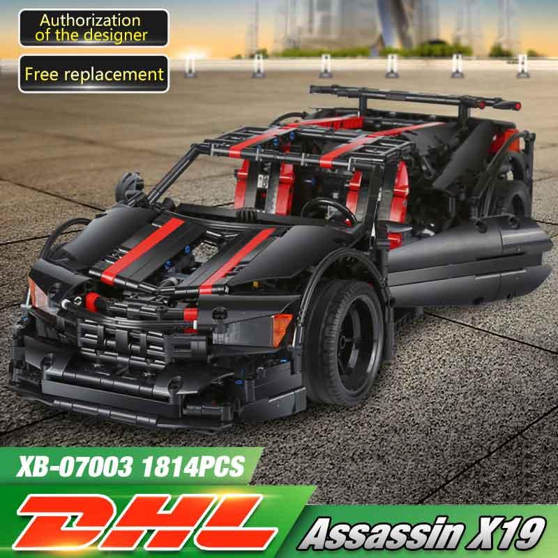 XingBao 07003 Creative MOC Technic Series The 2015 Assassin X19 Set legoing Militar Building Blocks Bricks Fun Toys Model Hediye