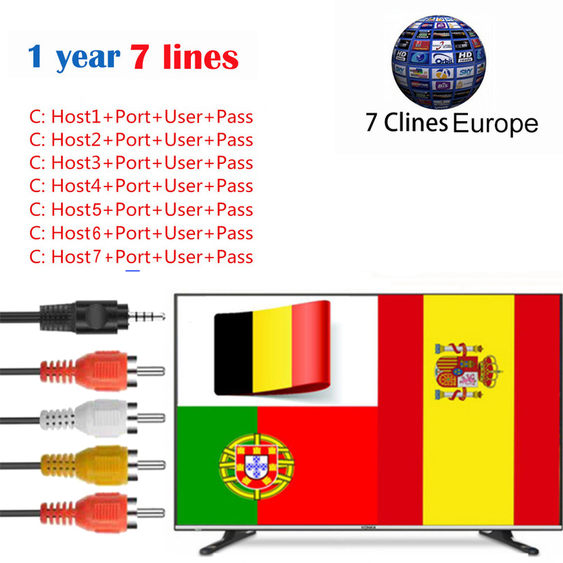 Cccam Europa Portugal 7 Lines 1 Year Cccam  For 1 Year Spain Poland Germany Satellite Tv Receiver DVB-S/S2