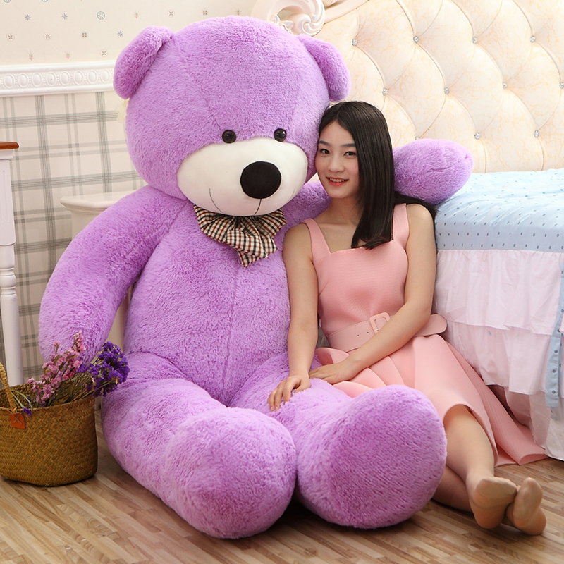 2016 High quality 200cm Giant teddy bear plush toys Life size teddy bear stuffed animals Children soft peluches Christmas gift