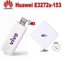 Unlocked 4G LTE FDD Huawei E3272S 153 150Mbps Mobile USB Modem CRC9 35dbi antenna