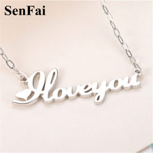 Senfai Personalized Necklace Bar Gold Silver Any Name Baby Arabic Angela Alex Pendants Necklaces Fashion Party Bar Jewelry Gift(China)
