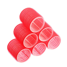 6Pcs Big Self Grip Hair Rollers Cling Any Size DIY Hair Curlers