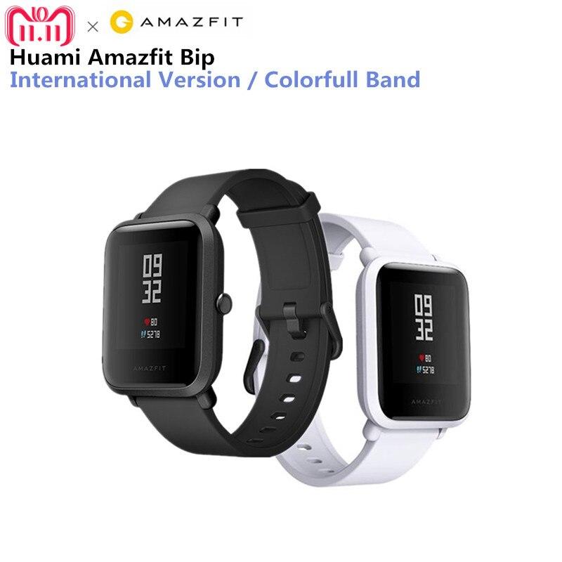 Reloj inteligente Huami Amazfit xiaomi smartwatch Bip Bit Face GPS Fitness Tacker ritmo cardíaco IP68 soporte impermeable Drop Shipping