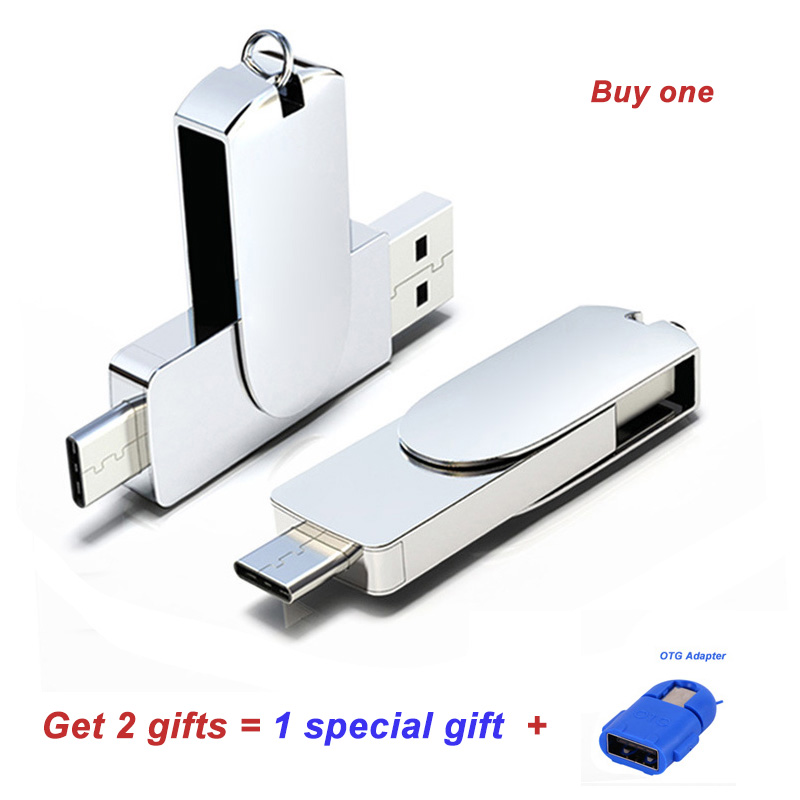 128GB Type-C 3.1 Phone USB Flash Drive OTG 32G Pen 3.0 For Type C 64GB Pendrive