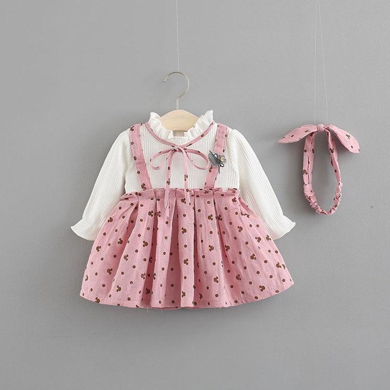 Baby Dress Promotion Limited Patchwork Vestido Infantil 2018 Autumn Dress Baby Princess 0-3 Year Old Girl Korean Version Of The