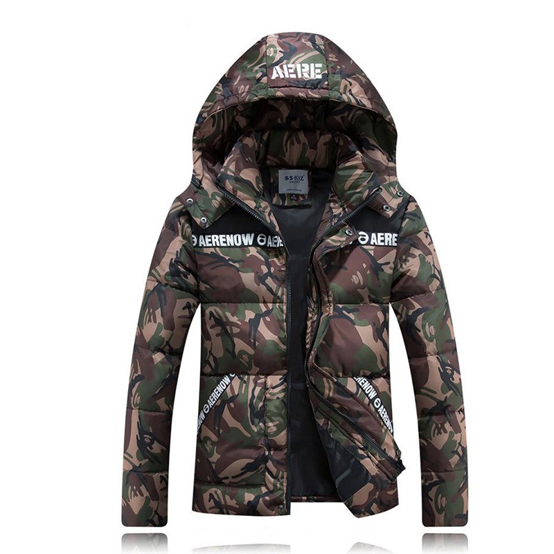 New Winter Ski jackets mens Camouflage parka men thicken Moda hooded down jacket men Outdoor cold coats Outerwear Capa masculina new 2017 men winter black jacket parka warm coat with hood mens cotton padded jackets coats jaqueta masculina plus size nswt015