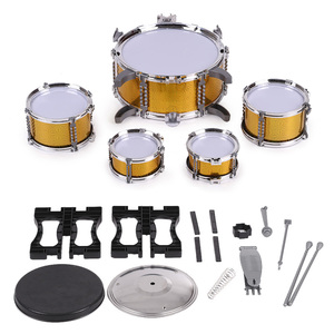 Image 5 - Children Drum Set  Jazz Musical Instrument Toy 5 Drums +1Small Cymbal Stool Drum Stick Music Toys Children Christmas Gift