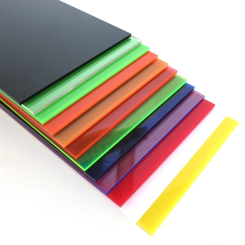 Plastic Acrylic Plexiglass Sheet Size10cmx20cmx2.3mm Colorful Model Sheet For DIY Handmade