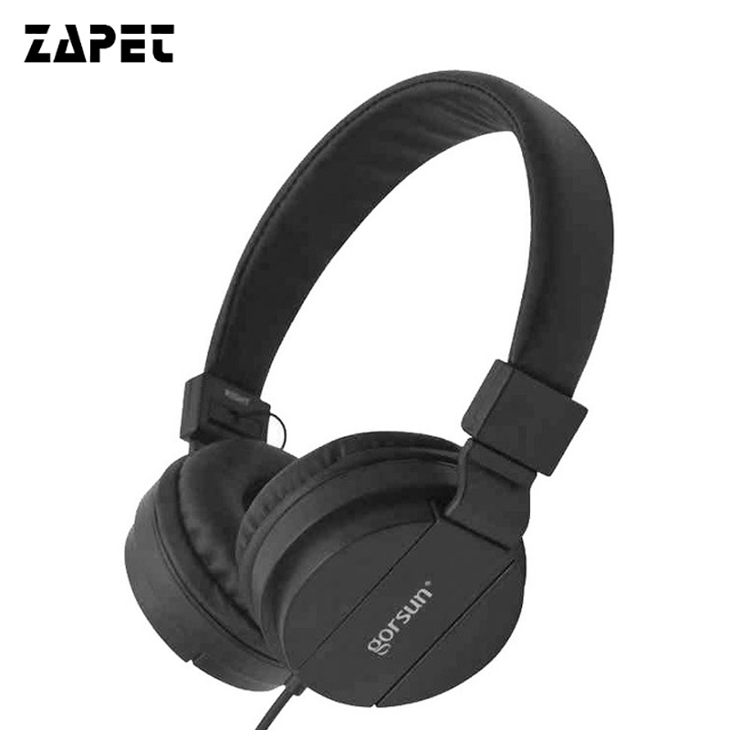 ZAPET Wied Headphones Earphones Computer Gaming Headset with 3.5mm AUX Foldable Portable Deep Bass For Phones MP3/4 without MIC yisuya simple ladies dress bamboo wooden wrist watch women casual relax handmade nature wood quartz watch genuine leather clock