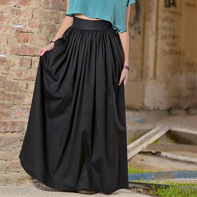 d9b269295 Moda nueva falda negra para mujer alta cintura Maix longitud de la cintura  con cremallera hecha a ...