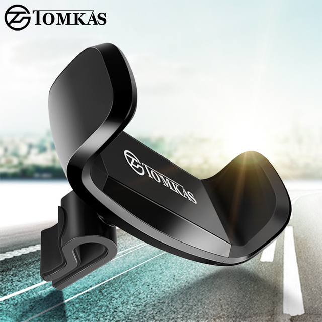 Tomkas 360 Degree Rotatable Car Phone Holder Universal Smartphone Mobile Phone Holder Stand Support Car Phone Stand Air Vent