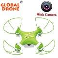 Global Drone GW009C маленький quadcopter 4ch 2.4 г пульт дистанционного управления quadcopter 3d вращение rc самолет с 03.MP камера мини quadcopter