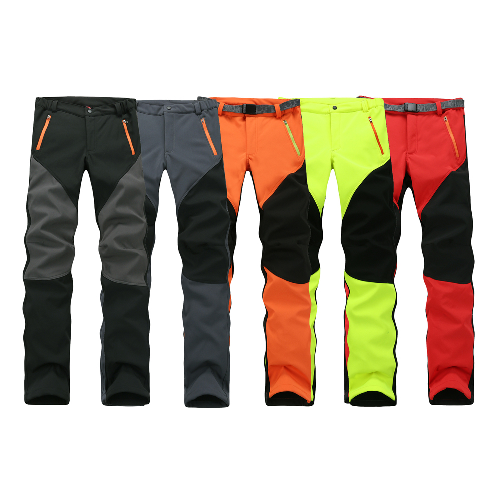 Camping Hiking Winter Outdoor Sport Pants Warm Waterproof Fleece Windproof Fishing Pants Men Women Mountain font