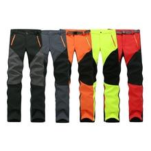 Camping Senderismo de Invierno Pantalones Calientes Pantalones de Lana Impermeable A Prueba de Viento de Pesca Deporte Al Aire Libre Hombres Mujeres Pantalones de Escalada de Montaña