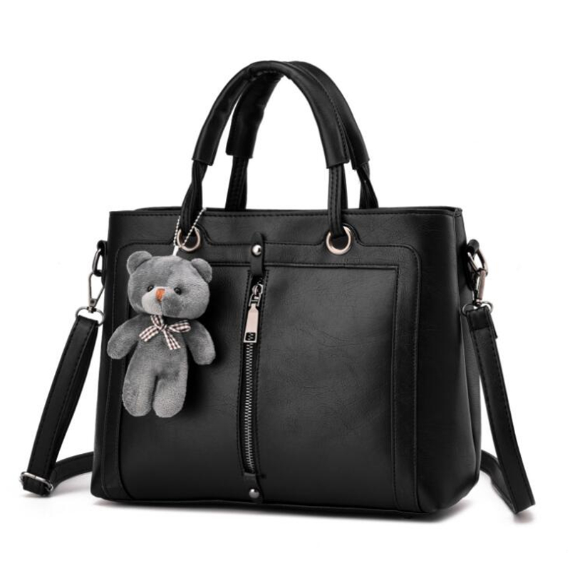 21club brand medium large capacity ladies totes zipper bear strap thread shopping office women crossbody shoulder bag handbags 1