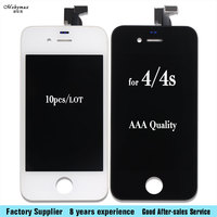 10 Pcs AAA Quality LCD Touch Screen Digitizer Front Glass Assembly Replacement For IPhone 4