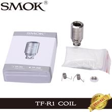 Oryginalny SMOK TFV4 głowica cewki TF-R1 RBA pojedyncze cewki dla SMOK TFV4 Atomizer zbiornik Rebuildable tanie tanio DS Dual SMOK TFV4 Coil Head TF-R1 RBA Single Coil